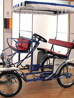 WE have a tandem quadricycle to rent for $40/day.