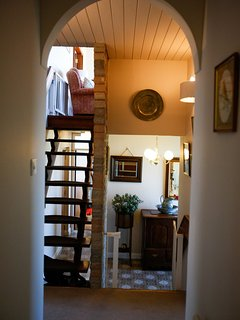 Hall taken from bedroom landing. Stairs lead to living room, dining room and kitchen.