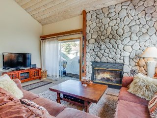 Rustic retreat near skiing and mountain lakes w/ wood-burning fireplace!