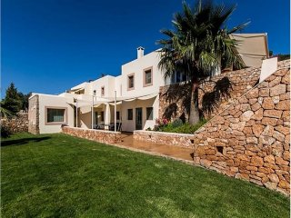 ES RACO V: Nice house of stone walls in the Ibiza style located near to ​​Santa