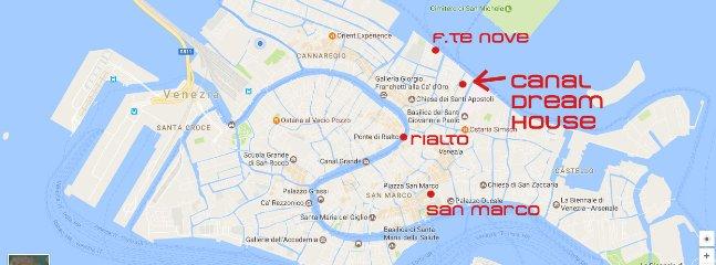 10 minutes to Rialto 15 minutes to San Marco