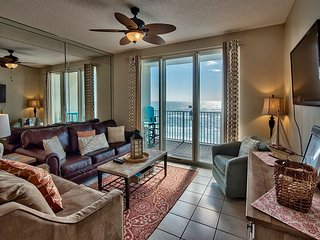 Panoramic Gulf Views from This Stylish Majestic Sun Condo with 2 King Beds!