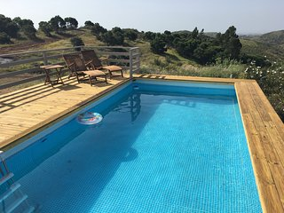 Modern villa with stunning views of the Tavira hills down to the sea