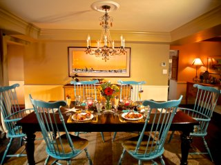 Dining Room ~ Breakfast is served between 7:30 and 8:30 in the morning