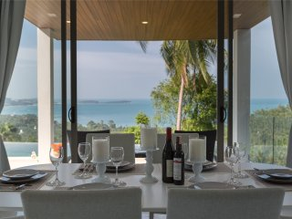 Brand New great sea view 3 BR designed villa The Wave A1, Chaweng