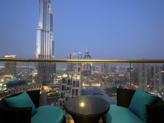 Startling views of dancing fountain , Burj Khalifa , Opera  in The Lofts