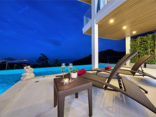 Ideal holiday sea view villa 3 BR The wave A3, Chaweng