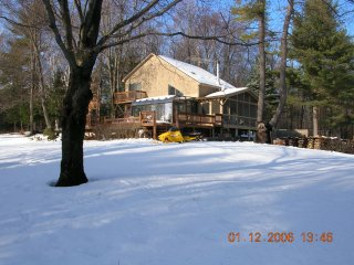 Cabin set on 30 private acres with amazing view.