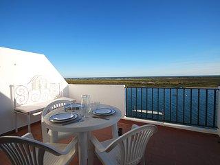 Apartamento T0 frente mar com ar condicionado e terraço vista mar, Cabanas
