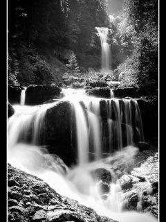 Geissbach Falls.  Photo by courtesy of Glenn Smith
