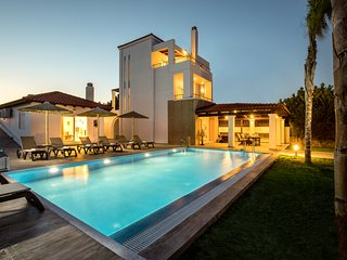 Gennadi Beach Villa . Luxury 4b Villa w/p on the beach!