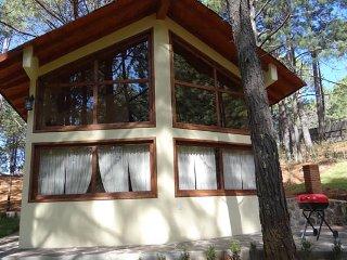 Cabaña en el bosque con 3 Recamaras