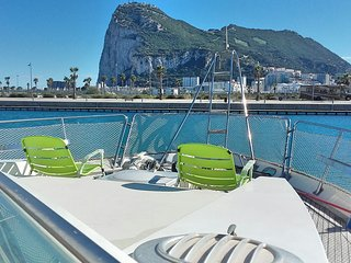 60 ft motor yacht in ocean Village Gibraltar