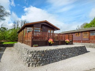 OBERLYN LODGE detached log cabin, open plan, en-suite, on-site facilities