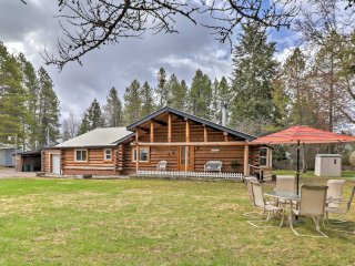 NEW! 3BR Columbia Falls Cabin w/ Deck & Porch!
