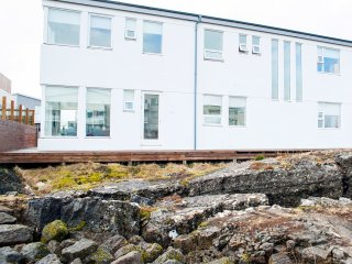 The house is located on a lava field