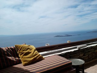 Andros island House Sleeps 4 Mountain Sea View + Pool