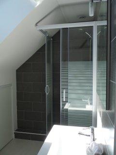 La salle de douche avec WC