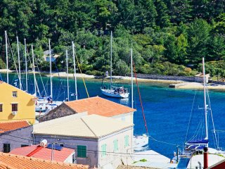 Typical Paxos apartment in Gaios, with stunning views and close to local beaches