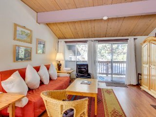 Dog-friendly condo with shared pool & hot tub near the action of Mammoth Lakes!