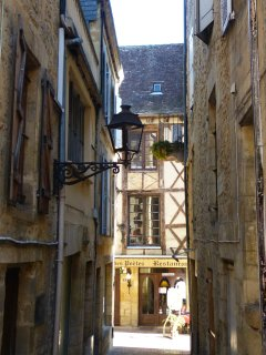 Sarlat centre is full of beautiful medieval buildings