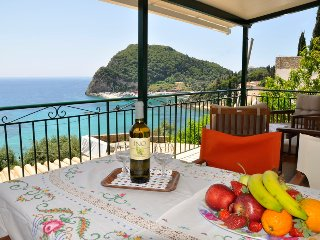 Sea view apartment for 4-5 persons 280 m from beach, Paleokastritsa