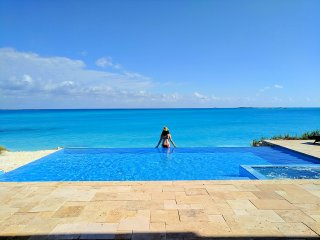 Shades of Blue ~ Ocean-view Estate on Private Beach