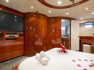 Luxury Yacht near Costa Brava. Double Room