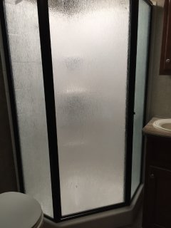 Angle Shower with upgraded fixtures
