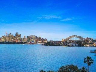 Sydney harbour views framing the Opera House and Harbour Bridge - Dream home.