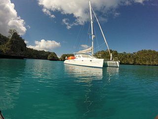 Sailing Catamaran QUIXOTIC in Savusavu, Fiji!