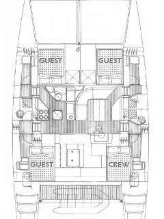 Layout of the yacht