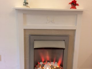 electric fire in lounge