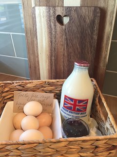 Eggs and milk provided on arrival. Homemade foraged jam when available.