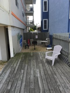 Grilling area with deck