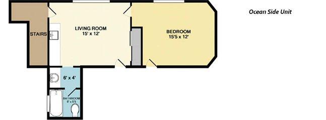 Floor Plan di Ocean View Unit