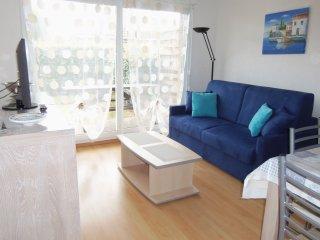 appartement T2 cabine , rez-de-chaussee+jardinet