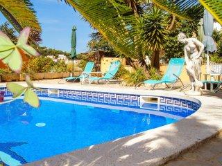 Maison avec vue sur la mer, piscine, calme, entre Lloret et Tossa, terrasses