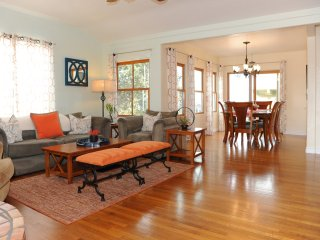 Living room incorporates the dining room for those special moments with friends and family members.