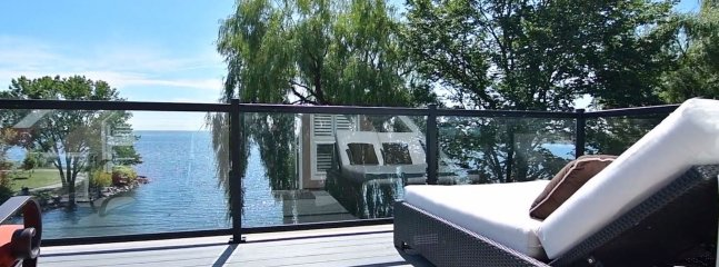 Rooftop deck, perfect for sun tanning, lounging, sipping wine & enjoying the panoramic lake view.