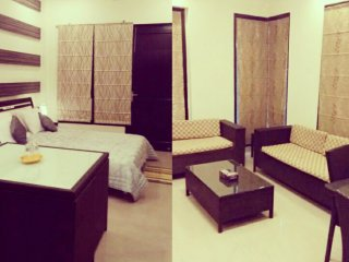 Luxurious 2 room Studio set attached balcony toilets lcd sofa microwave dinning