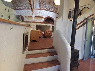 Steps to lounge area