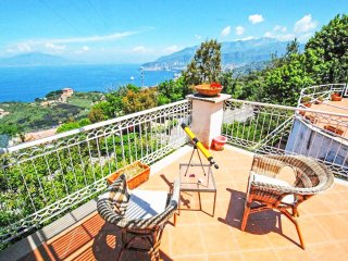 VILLA LA SELVA with terrace with an enchanting sea and Vesuvius view