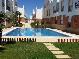Holiday apart. 2 bedrooms, 1 bathroom, shared swimming pool, golf nearby