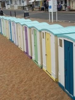The famous Ventnor beach huts