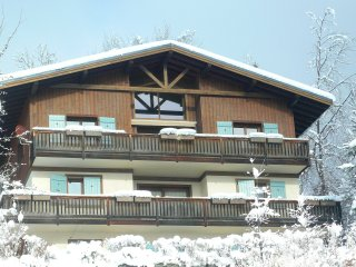 Beautiful 3-bedroom chalet apartment, Mont Blanc view