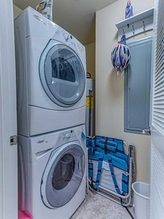 Front loading washer and dryer in unit