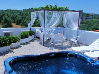 Villa Panorama with amazing sea view & private pool & outdoor jacuzzi and BBQ