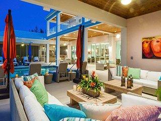 Elegant, Coastal 7-Bedroom Estate w/ Private Beach
