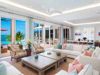 Elegant, Coastal 7-Bedroom Estate w/ Private Beach